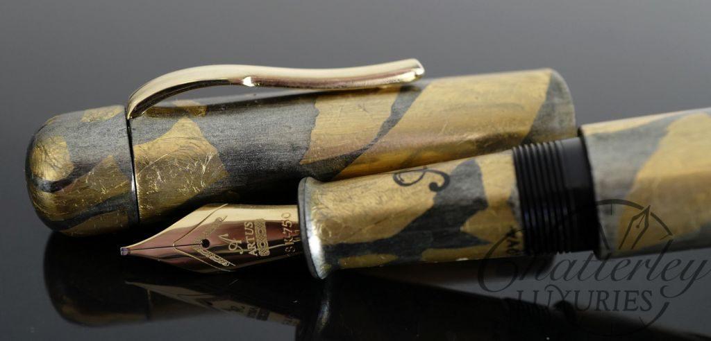 Artus Pen (one off) Gold Foil Fountain Pen