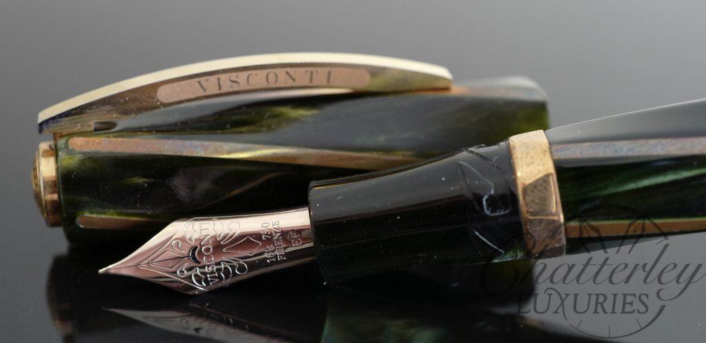 Visconti Green/Bronze Divina Elegance Maxi Fountain Pen