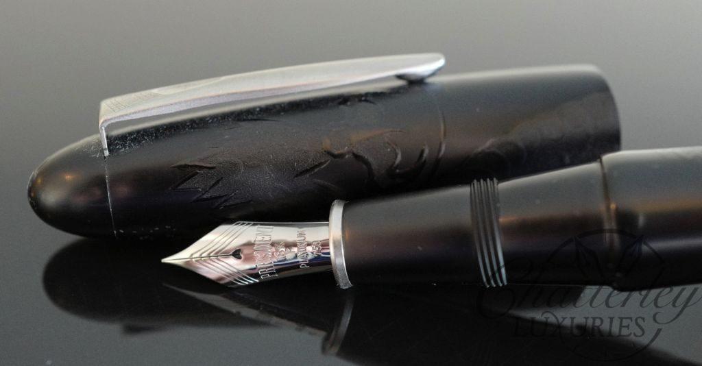 Platinum Izumo Maki-e Kurikara-Ken (Black Dragon) Fountain Pen