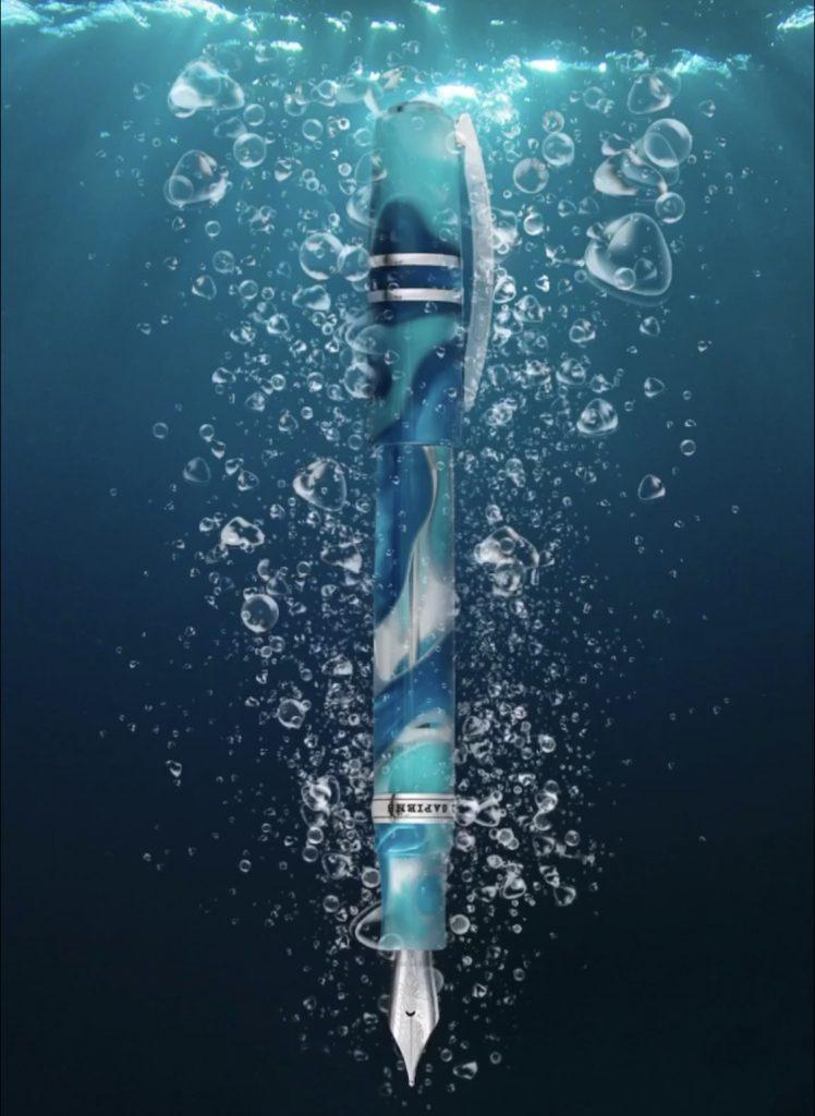 Visconti Homo Sapiens Blue Lagoon Maxi Oversized Fountain Pen