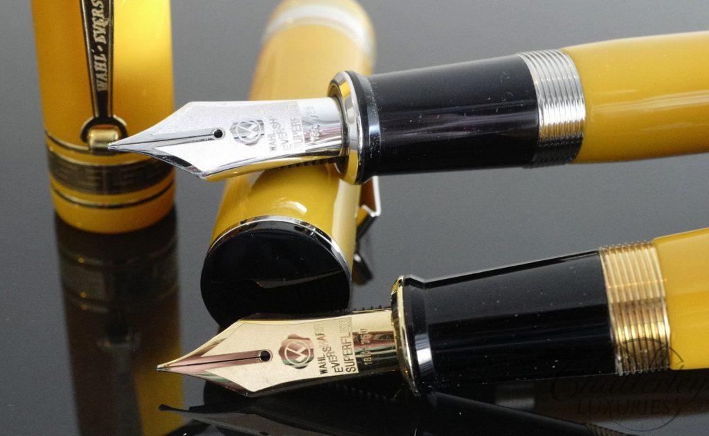 Wahl Eversharp DECOBAND Gold Seal Oversized Collection Mandarin Yellow Fountain Pen