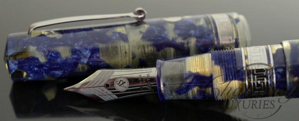 Armando Simoni Club/Chatterley Bologna Extra Lucens Celluloid Limited Edition Fountain Pen Ruthenium Trim