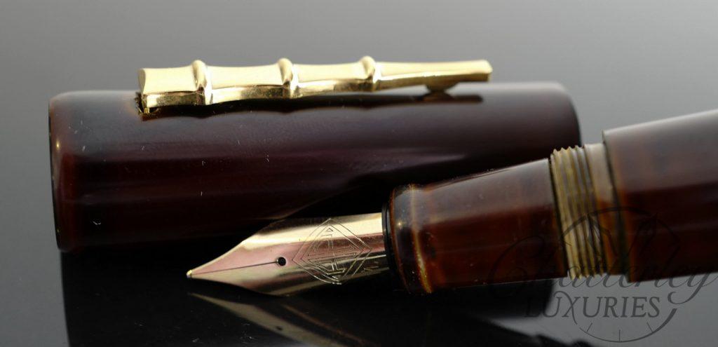 "AP Limited Editions ""The Apprentice"" Urushi Tame Nuri Yellow Fountain Pen"